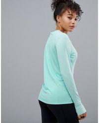 Adidas Originals Blue Running Supernova Long Sleeve Top In Mint