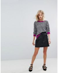 Esprit - Stripe Jumper With Pink Contrast - Lyst