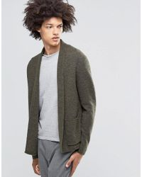Weekday - Green Jab Boiled Wool Cardigan for Men - Lyst