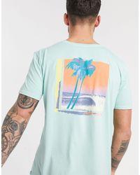 Quiksilver – Lazy Sun – Hellblaues T-Shirt in Blue für Herren
