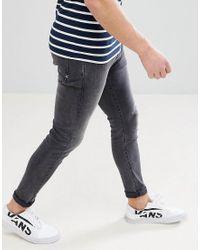 Jeans skinny con pinces di Scotch & Soda in Black da Uomo