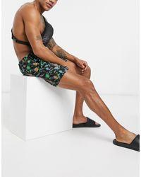Шорты Для Плавания С Цветочным Принтом -черный South Beach для него, цвет: Black