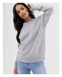 Серый Oversize-свитшот С Логотипом Nike, цвет: Gray
