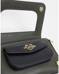 Love Moschino Green – Umhängetasche mit zwei Taschen