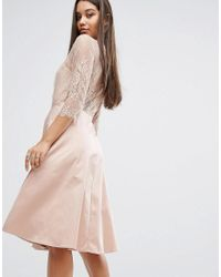 Y.A.S Pink Pretty Dress With 3/4 Sleeve