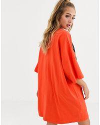 Vestido estilo camiseta Paradise ASOS de color Red