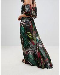 ASOS Multicolor Asos Design Tall Beach Co Ord Maxi Skirt In Dark Tropical Print