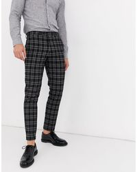Premium - Pantalon élégant à carreaux - foncé Jack & Jones pour homme en coloris Black