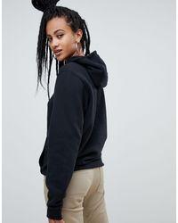 Nike Black – Club – er Kapuzenpullover mit Swoosh-Logo