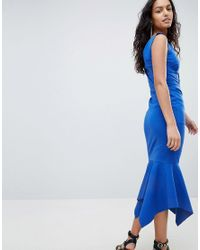Elliatt Blue Fish Tail Midi Dress