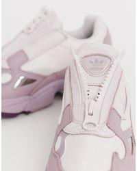 Falcon - Sneakers lilla con zip di Adidas Originals in Purple