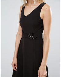 Warehouse Black Buckle Dress