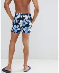 Short de bain à fleurs Another Influence pour homme en coloris Blue