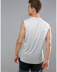 Adidas - Gray Training Sleeveless T-shirt In Gradient In Grey Cd9002 for Men - Lyst