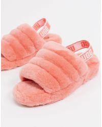 Ugg Pink Fluff Yeah Slide Sandalen für