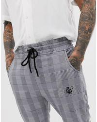 Pantalones cortos Siksilk de hombre de color Gray