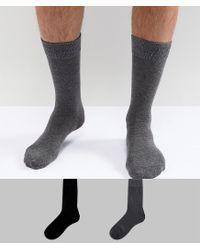 SELECTED - Multicolor Socks 2 Pack for Men - Lyst