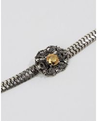 ASOS - Metallic Trinket Charm Choker Necklace - Lyst