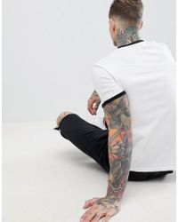 ASOS - White Relaxed T-shirt With French Bulldog Print for Men - Lyst