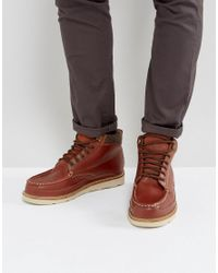 Superdry Everest Leather Lace Up Boots In Brown for men