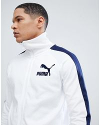 PUMA T7 Vintage Track Jacket In White 57498506 for men