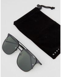 Quay Hendrix Aviator Sunglasses In Black for men