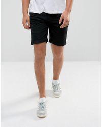D-Struct Blue Pull On Drawstrinig Canvas Shorts for men