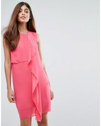 07a77fec812 French Connection James Sheer Dress in Pink - Lyst