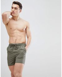 3b67892020 French Connection Fcuk Swim Shorts in Green for Men - Lyst