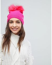 Ted Baker - Pink Double Pom-pom Hat - Lyst