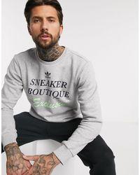 Серый Свитшот С Принтом Adidas Originals для него, цвет: Gray