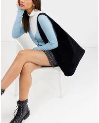 Черная Сумка-тоут Из Искусственной Замши -черный Glamorous, цвет: Black