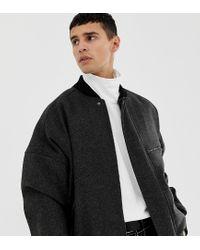 Bomber oversize en mélange de laine - Gris Noak pour homme en coloris Gray