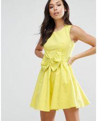 6e7fa8330639f2 Lyst - Rage Madam Bow Dress in Yellow
