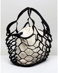 ASOS - Black Oversize Cut Out Slouch Shopper - Lyst