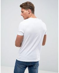 ASOS Muscle Fit T-shirt With Deep V Neck In White for men