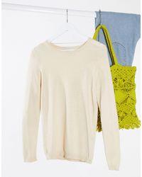 Vero Moda Natural – Pullover mit Rundhalsausschnitt