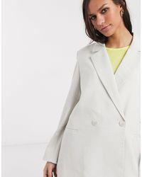 Серый Oversized‐пиджак -бежевый Weekday, цвет: Gray