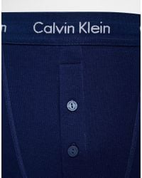 CALVIN KLEIN 205W39NYC Blue Button Fly Boxer Trunks for men