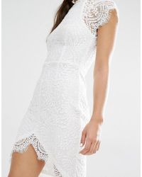Boohoo | Multicolor Boutique Eyelash Lace Bodycon Dress | Lyst