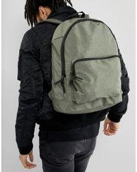 ASOS - Green Backpack In Khaki Texture for Men - Lyst