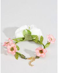 ASOS - Green Wedding Flower Corsage Bracelet - Cream - Lyst