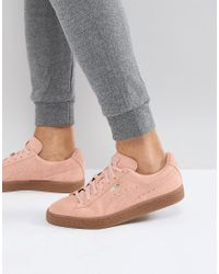 PUMA Suede Gum Sole Sneakers In Pink 36324220 for men