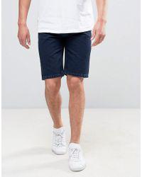 Bellfield Blue Overdye Denim Short for men