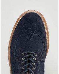 Dr. Martens Blue Windsor 3989 Suede Brogue Shoes for men
