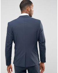SELECTED Blue Super Skinny Suit Jacket for men
