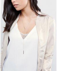 ALDO - Metallic Asitrede Minimal Necklace - Lyst