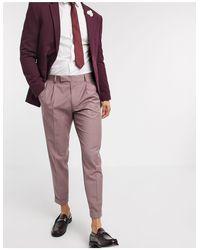 ASOS Pink Slim Smart Pants for men