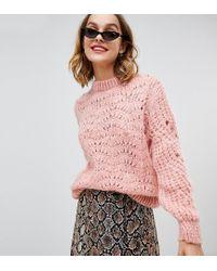 Jersey con adorno de pespuntes en rosa River Island de color Pink
