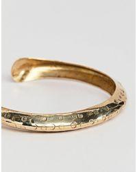 ASOS Metallic Textured Flat Edge Cuff Bracelet